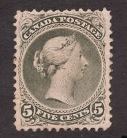 #26 - Canada - 1868 - 5 Cent - MNH  RG - Large Queen - F/VF-  superfleas