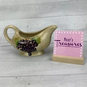 Tabletops Unlimited Lifestyles CHIANI Hand Painted Grapes Gravy Sauce Boat Dish