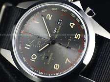 NEW Pre Invicta Glycine 43mm Combat Automatic Chronograph Gray Dial Watch 3924