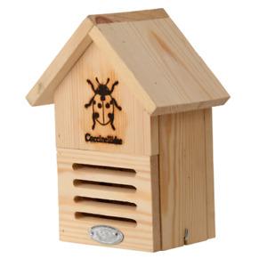 Marienkäferhaus aus Holz mit Silhouette, Insektenhotel, Insektenhaus