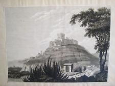 Oropesa.Castellon. Grabado original Swinburne 1823