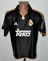 REAL MADRID SPAIN 1999/2000 AWAY FOOTBALL SHIRT JERSEY ADIDAS SIZE S ADULT