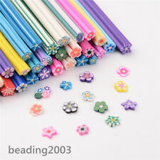 100pcs Assorted 3D Flower Nail Art Decoration Canes Manicure Polymer Clay Sticks