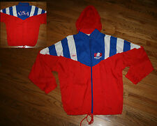 USA World Cup Soccer Adidas Jacket vintage zip hooded vented Windbreaker Men XL