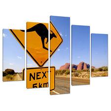 Set of 5 Part Blue Canvas Pictures Australia Outback Boys Bedroom 5083