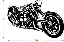 SKELETON MOTORBIKE STICKER / WALL STICKER / Wall Quote / Wall art /    N71