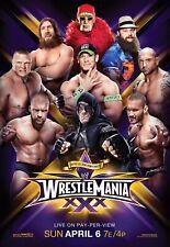"Wrestlemania 30 Poster WWE WRESTLING (12""x18"") NXT WCW AEW ROMAN REIGNS LESNAR"