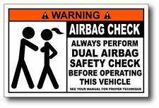 Airbag Check funny warning OEM Decal Bumper Vinyl Sticker boobies tatas boobs
