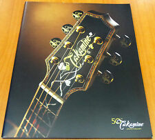 Takamine Acoustic Classical Guitars 2012 50th Anniversary Sales Catalog Brochure