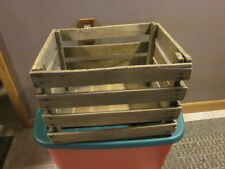 "VINTAGE WOODEN SLOTTED APPLE CRATE 12"" X 15"" X 18"" ANTIQUE PRIMITIVE"
