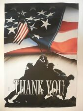 """THANK YOU"" Patriotic U.S. Marine Corps War Memorial, Flag, Iwo Jima HOUSE flag"