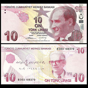 Turkey 10 Lira, 2009(2012), P-223, UNC
