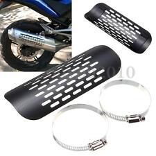 Universal Motorcycle Metal Exhaust Muffler Pipe Heat Shield Cover Heel Guard New