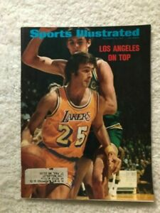 Sports Illustrated Goodrich Wilt Lakers 1971 Painting Francis Golden Porsche Ad