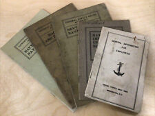 Lot of 5 Vintage United States Dc Navy Yard Rules & Information Manuals