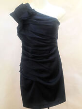 Express Dress 2 Blue Ruched One Shoulder Bodycon Mini Cocktail Clubwear New