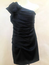 Express 2 Dress Blue Ruched One Shoulder Bodycon Mini Cocktail Clubwear