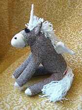 Sock Monkey Handcrafted Alicorn (Pegasus Unicorn) Handmade