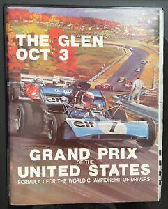 1971 United States Grand Prix Watkins Glen Race Program