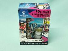 Topps Champions League Sticker 2020/2021  Tin Box mit 9 Tüten + Jumbo Sticker