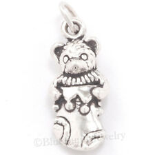 TEDDY BEAR Charm CHRISTMAS Stocking Sterling Silver Pendant Bracelet 3D 925