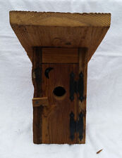 """Rustic Amish Crafted """"Outhouse"""" Birdhouse - Lancaster Cnty - PA"""