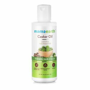 Mamaearth 100% Pure Castor Oil/To Support Hair Growth, Good Skin - Free Shipping