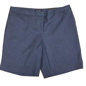 Mario Serrani Italy Womens 14 Comfort Stretch Shorts Tummy Control Denim Blue