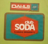 OLD NORWAY SOFT DRINK LABEL, 1970s DAHLS BRYGGERI TRONDHEIM, CLUB SODA
