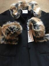 Chamonix Faux Fur Coat With Leopard Trim Age 3/4