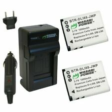 Wasabi Power Battery (2-Pack) and Charger for Toshiba PX1686 and Toshiba