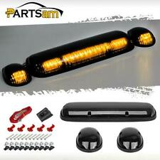 3PCS Smoke Cover Amber 30 LED Cab Roof Top Marker Lights for Chevrolet/GMC 02-07