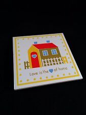 Vtg 80s Trivet * Love is the heart of home * Kitchen Counter Tile JSNY Taiwan