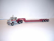 FIRST GEAR 1/64 SILVER ORANGE RED/MAROON MACK R MODEL WITH TALBERT LOWBOY DCP