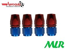 AEROQUIP AN -6 JIC STRAIGHT FEMALE FUEL HOSE PIPE FITTING UNION FBM1012 SET OF 4