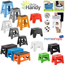 More details for plastic heavy duty step stool multi purpose easy foldable home kitchen outdoor