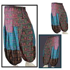 Sarouel OM Baggy Low-cut Vintage Hip Hop Hippie Aladdin Boho Trouser Pantalon élastique