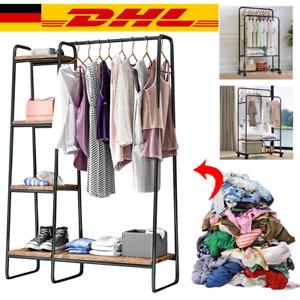 Garderobenständer Kleiderständer Metall Kleiderbügel  Schuhregal Auf 7 Ebenen