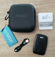 150Mbps 4G LTE WiFi Wireless Portable Router Mobile Broadband Hotspot Black Case