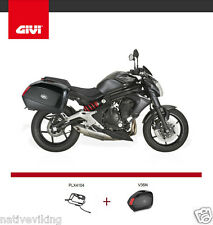 Kawasaki ER6 2014 GIVI PLX4104 and V35 PANNIERS new SIDE CASE and RACK kit ER-6N