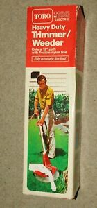 """NOS NEVER USED TORO 1100 ELECTRIC TRIMMER / WEEDER 12"""" PATH"""