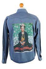Levis Frida Printed Denim Shirt Unisex Long Sleeve Retro M Mid Blue - SH3969