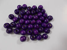 80pcs 12mm WOODEN Round Spacer Wood Beads -  PURPLE