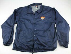 Vintage Cooperstown Dreams Park Men's Windbreaker Snap Jacket Pullover Sz L NICE