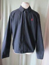 """Men's Ralph Lauren Black Full Zip Cotton Jacket NWT $145 XL 37"""" SL"""