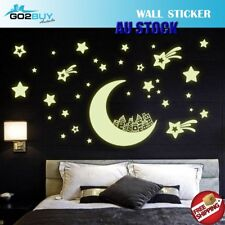 Glow In The Dark Stars Moon Removable Decal Wall Stickers Living Room Bedroom