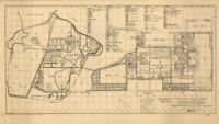 "24""x43"" Maps of USA US naval academy Annapolis Maryland 1924"
