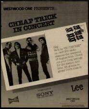 1982 Cheap Trick In A Westwood One Ad