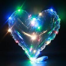 LED Luftballons Herzförmig Transparent Leuchtende Party Geburtstag Hochzeit Deko