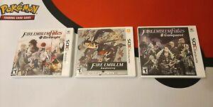 3 Lot of Nintendo 3DS Games, Fire Emblem: Awakening, Conquest & Birthright (US)